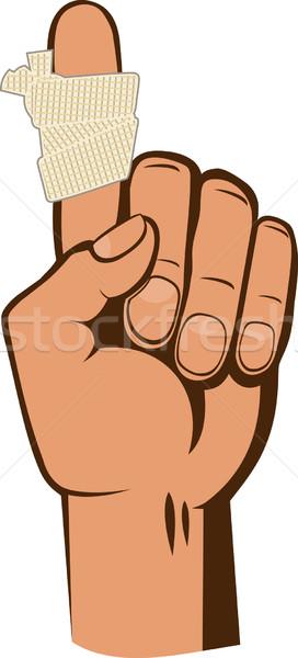 指 警告 ジェスチャー 医師 背景 ストックフォト © sharpner