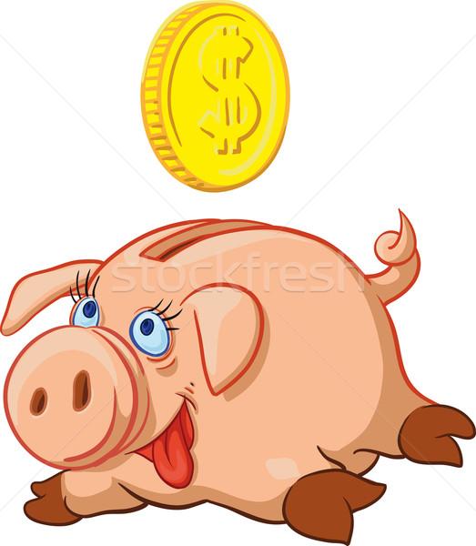幸せ 豚 貯金 フル お金 銀行 ストックフォト © sharpner
