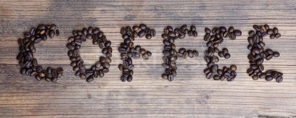 木板 言葉 コーヒー ラフ テクスチャ 食品 ストックフォト © sharpner