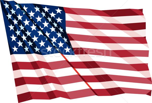 Bandeira vento EUA textura azul Foto stock © sharpner