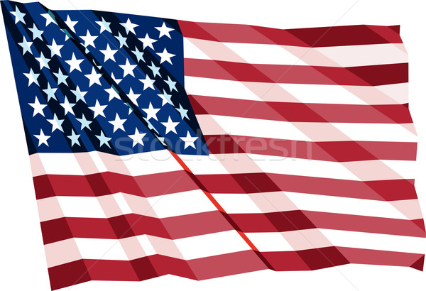 Vlag wind USA textuur Blauw Stockfoto © sharpner