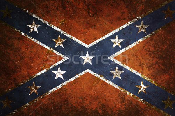 Vintage vlag grunge oorlog Blauw Stockfoto © sharpner