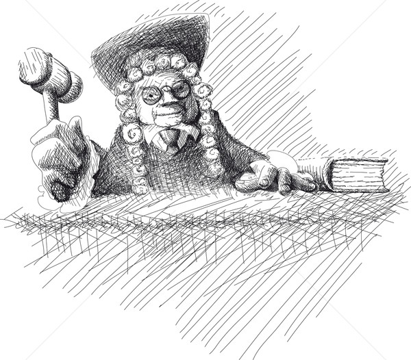 Angry judge Doodle Stock photo © sharpner