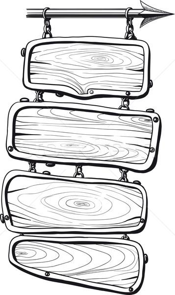 Preto quatro enforcamento cadeias Foto stock © sharpner