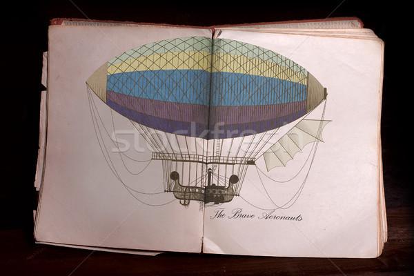 古本 オープン 古い 開いた本 色 実例 ストックフォト © sharpner