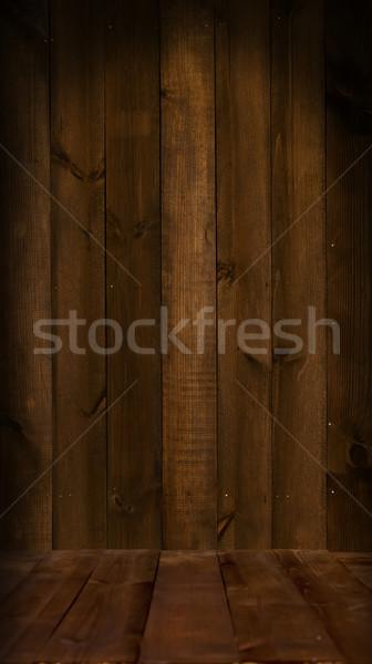 木製 床 壁 暗い 古い テクスチャ ストックフォト © sharpner