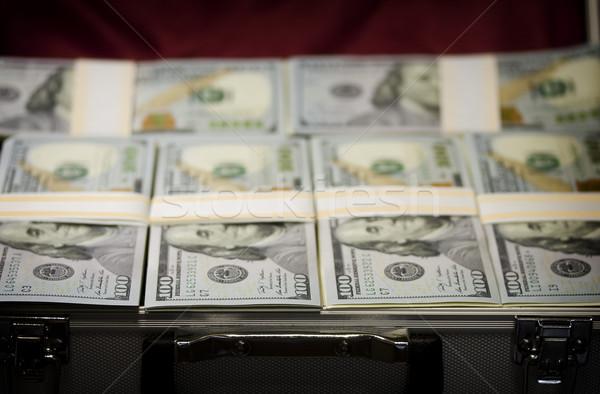 スーツケース パック ドル オープン ビジネス 紙 ストックフォト © sharpner