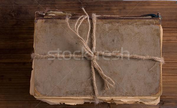 öreg rongyos könyv régi könyv fonal durva Stock fotó © sharpner