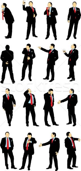 бизнеса бизнесменов костюм различный работу Сток-фото © sharpner