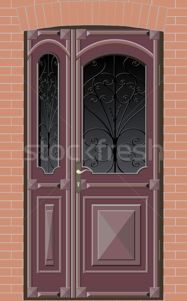closed door with grille Stock photo © sharpner