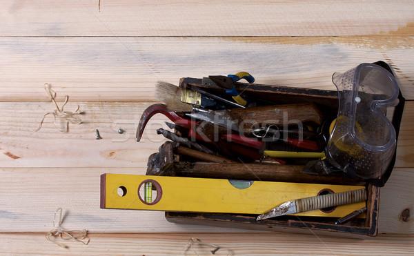 Oude hand tool ingesteld roestige tools Stockfoto © sharpner