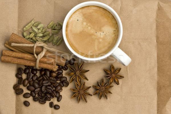静物 カップ コーヒー スパイス 作品 紙 ストックフォト © sharpner