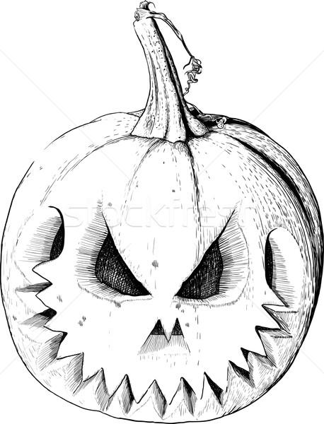 Rabisco terrível abóbora halloween Foto stock © sharpner