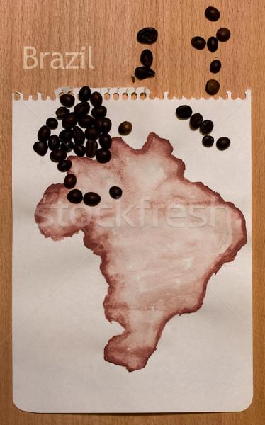 Map Of Brasil Stock photo © sharpner