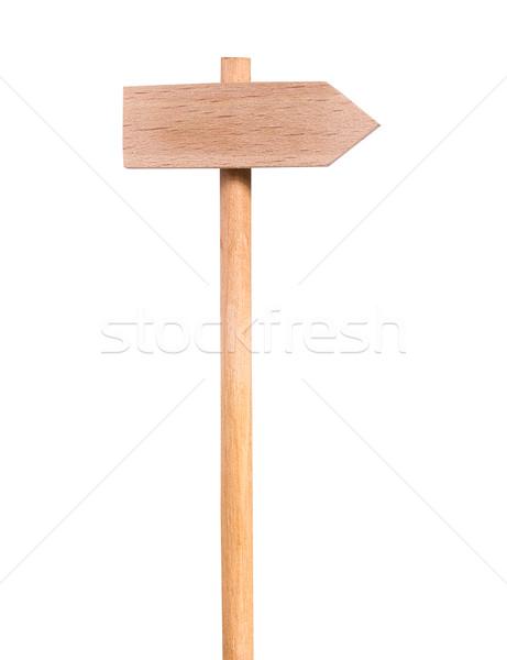 道路標識 道標 木材 1 方向 ストックフォト © sharpner