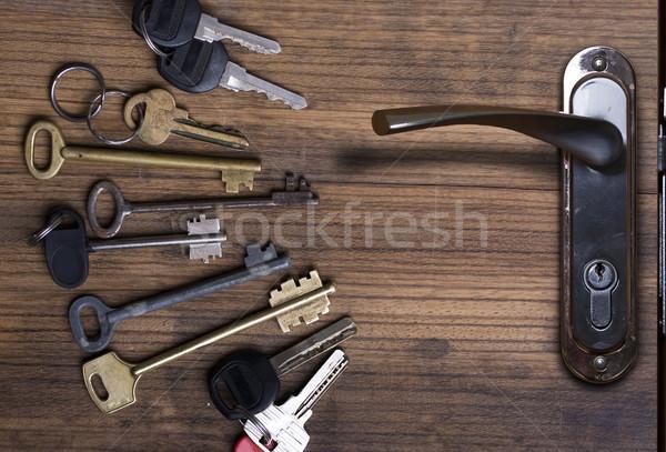 Foto stock: Clave · claves · diferente · año
