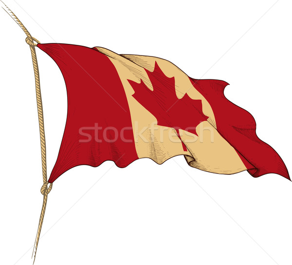 Vlag Canada vorm oude Stockfoto © sharpner