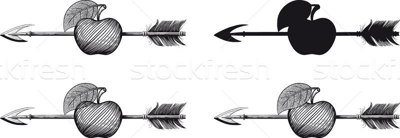 Arrow in Apple Stock photo © sharpner