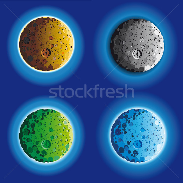 four fool moon surface Stock photo © sharpner