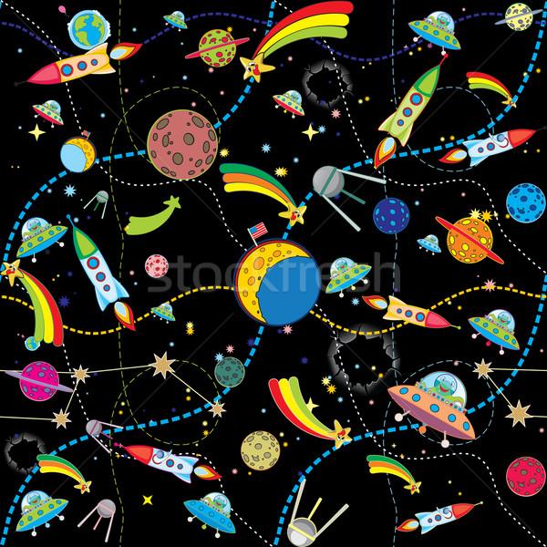 Hasonló fekete űr bolygók divat Föld Stock fotó © sharpner