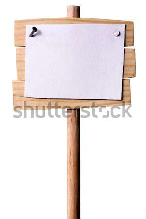 Wooden Pointer With White paper Stock photo © sharpner