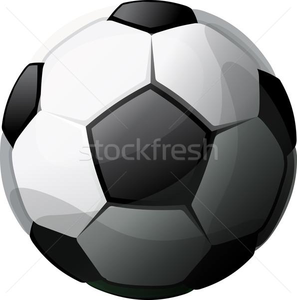 Futebol preto e branco ilustração isolado branco computador Foto stock © sharpner
