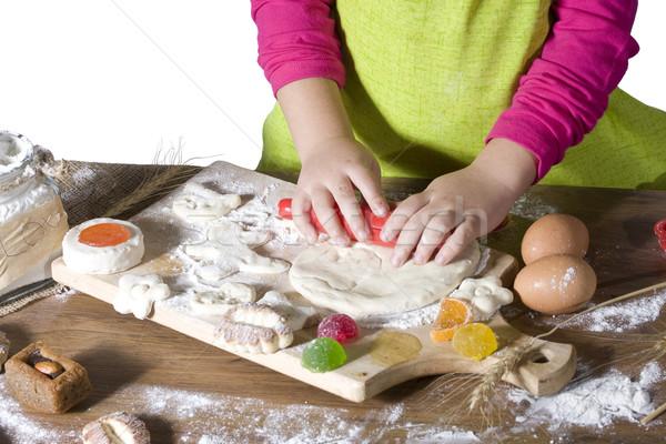 little kid cooks Stock photo © sharpner
