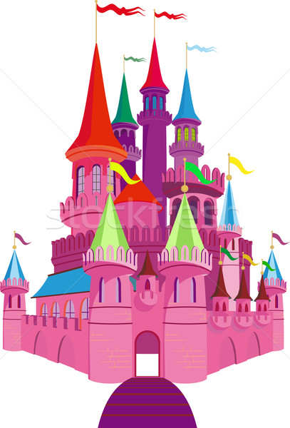 Fairy-tale Pink Castle Stock photo © sharpner
