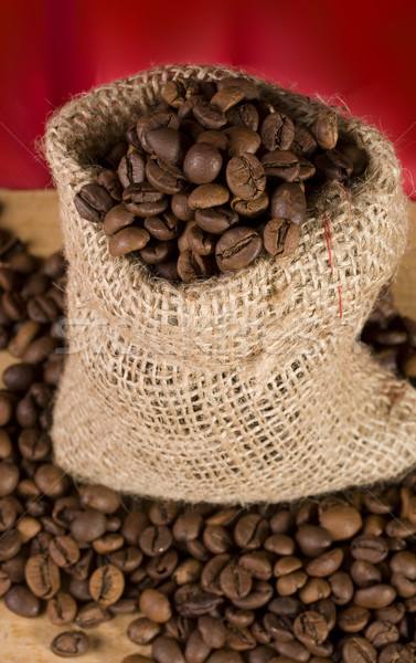袋 コーヒー 赤 静物 表示 テクスチャ ストックフォト © sharpner