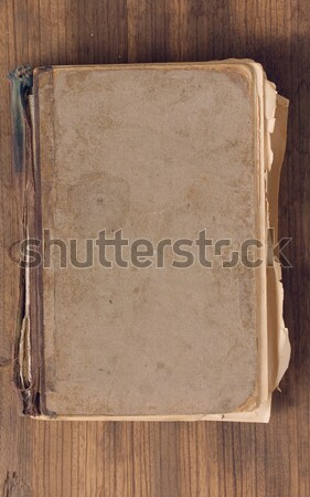 Oude haveloos boek dekken ruw boord Stockfoto © sharpner
