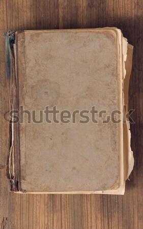 Vieux minable livre couvrir rêche bord Photo stock © sharpner