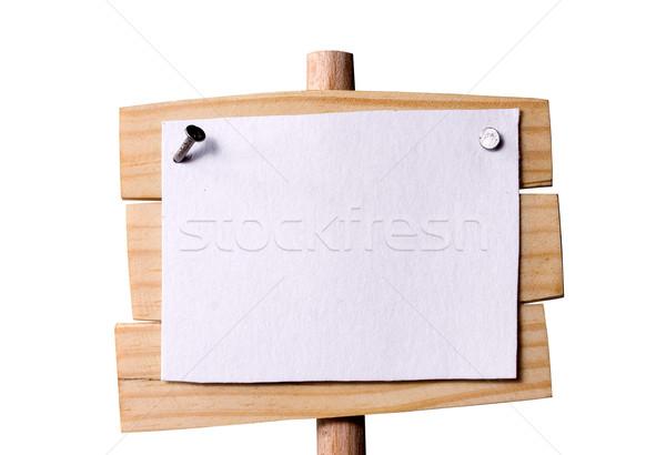 Wooden pointer crop Stock photo © sharpner