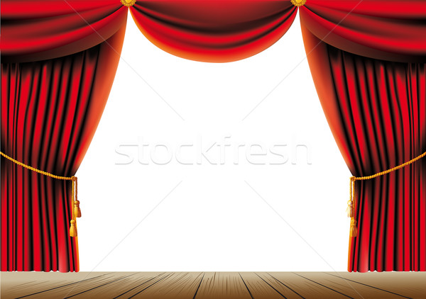 Red theater curtain Stock photo © sharpner