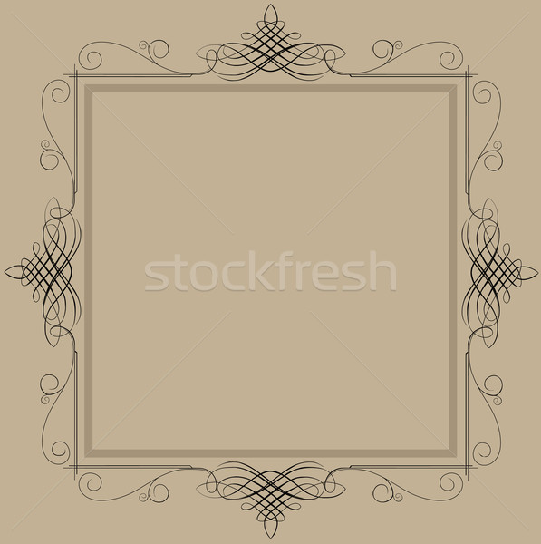 Decorative vintage frame Stock photo © sharpner