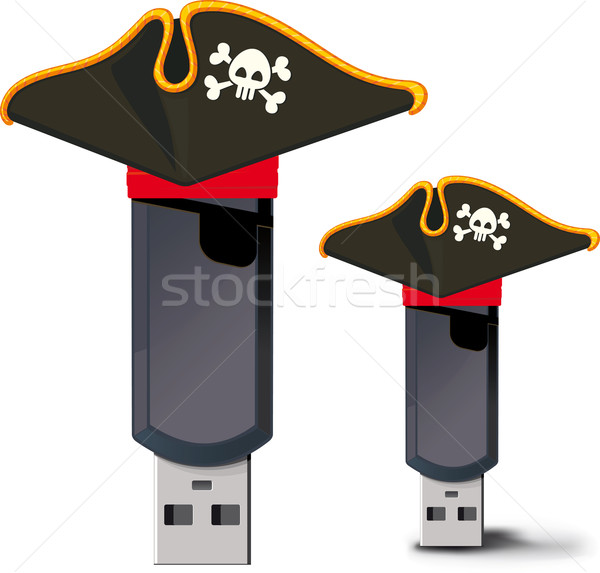 Pirata usb flash drive immagine film design Foto d'archivio © sharpner