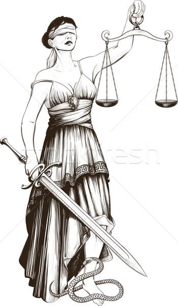 Symbol of justice Femida Stock photo © sharpner