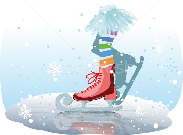 ice skates Stock photo © sharpner