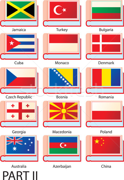 Verscheidene vlaggen Europa amerika asia land Stockfoto © sharpner