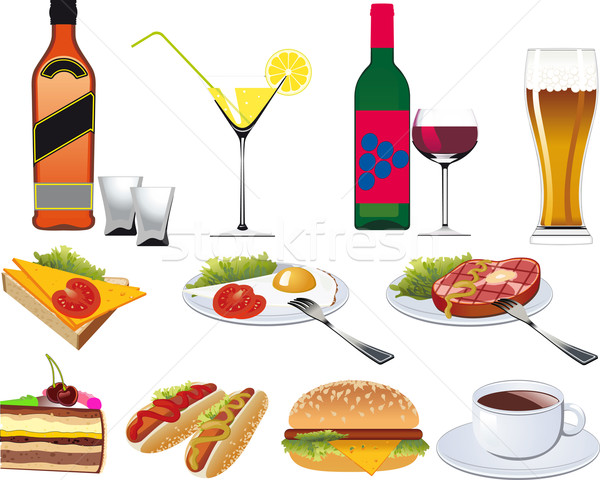 Restaurant Icons set Stock photo © sharpner