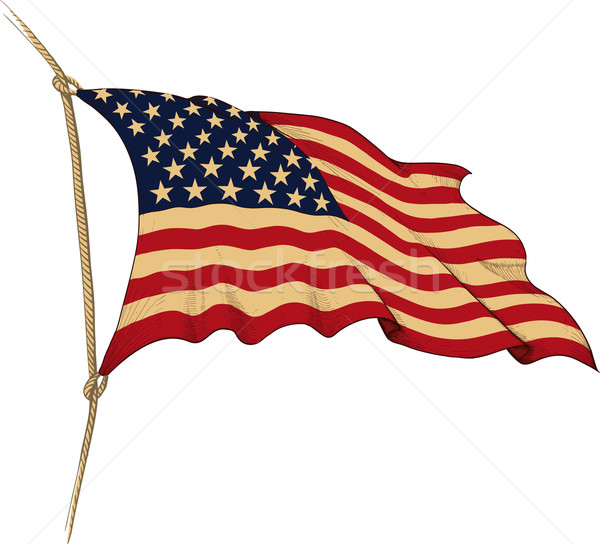 Vlag USA oude geschilderd abstract Stockfoto © sharpner