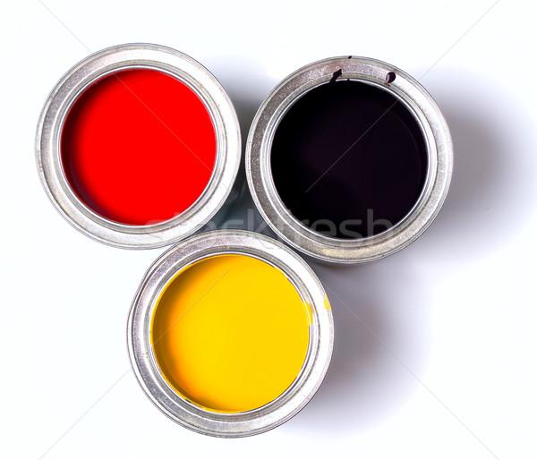 Duitsland vlag verf banken witte Stockfoto © sharpner