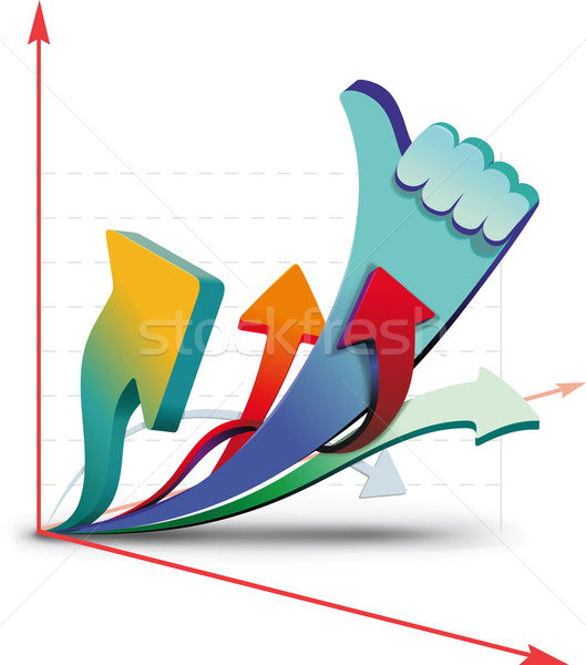 Groei charts tonen alle ontwerp achtergrond Stockfoto © sharpner