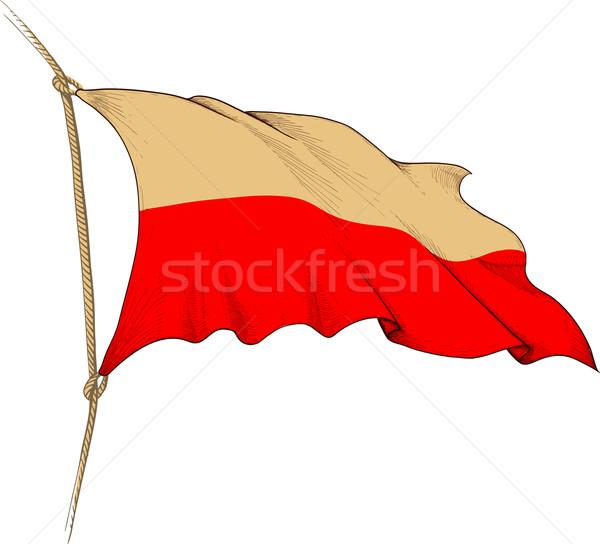 Bandeira Polônia forma velho Foto stock © sharpner