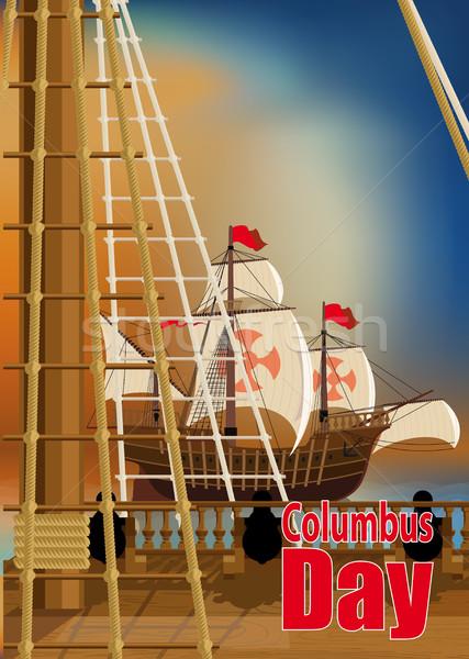 Dag kaart dek een schepen Stockfoto © sharpner