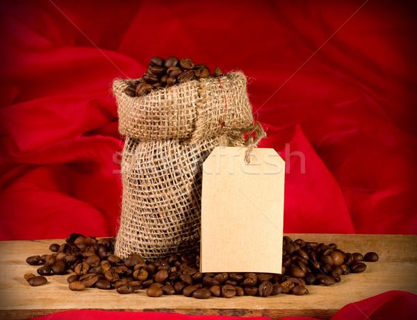 袋 コーヒー 静物 赤 テクスチャ 背景 ストックフォト © sharpner