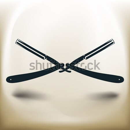 vintage straight razor Stock photo © sharpner