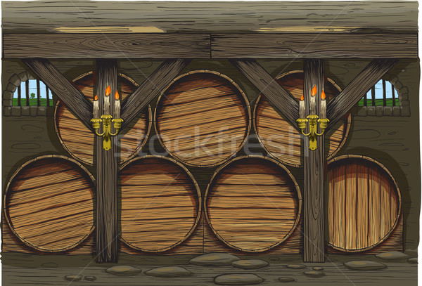 An old wine barrels Stock photo © sharpner