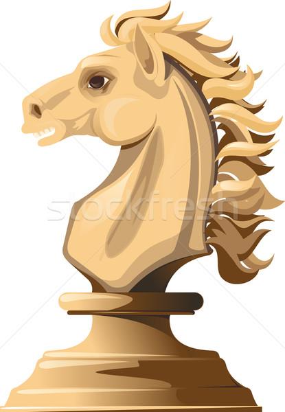 Blanco ajedrez caballo luz aislado Foto stock © sharpner