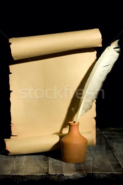 ヴィンテージ スクロール 古代 木製 デザイン ストックフォト © sharpner