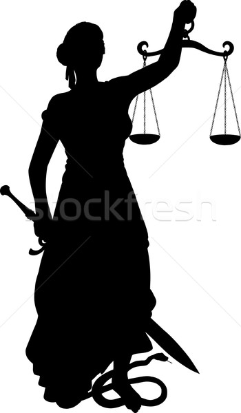 Silhouette Themis with Sword Stock photo © sharpner